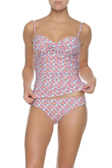 TWIST UNDERWIRE TANKINI-SECRET BAY