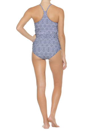 HIGH NECK TANKINI-MONTAUK