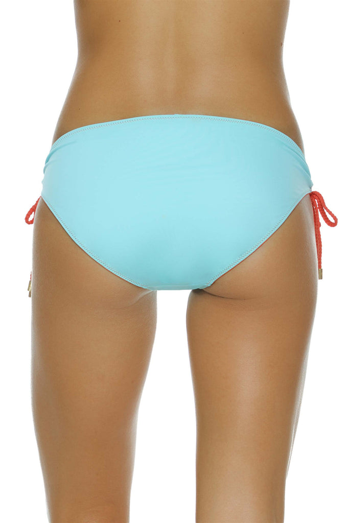 REVERSIBLE TUNNEL HIPSTER WITH BRAID-CORAL