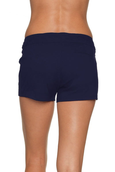 "4"" LACE-UP BOARD SHORT - NAVY"