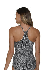 RACERBACK TANKINI-SUNSET KEY-BLACK