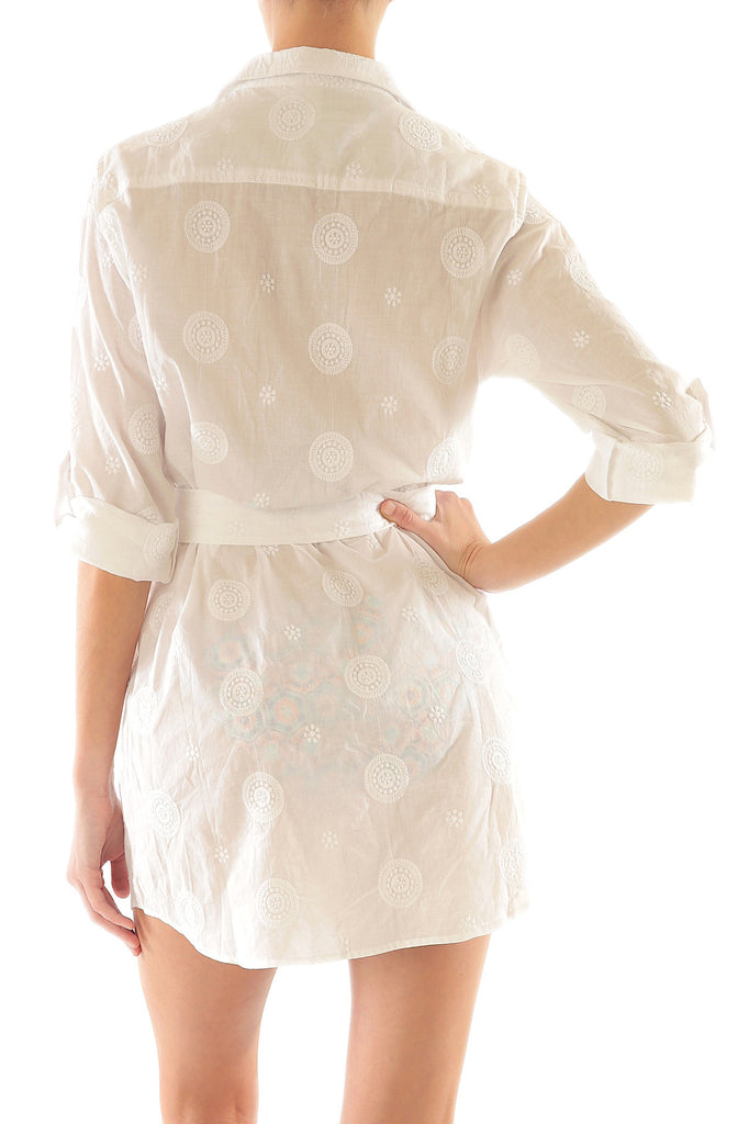 SHIRT DRESS-WHITE