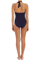 PLUNGE TORTOISE ONE-PIECE- NAVY