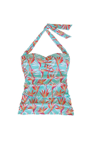 CONVERTIBLE RETRO TANKINI-FIRE ISLAND