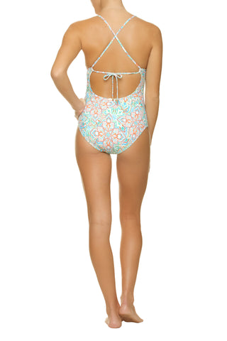 TIE BACK ONE-PIECE-TORTUGA