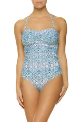 TWIST BANDEAU ONE-PIECE-COZUMEL