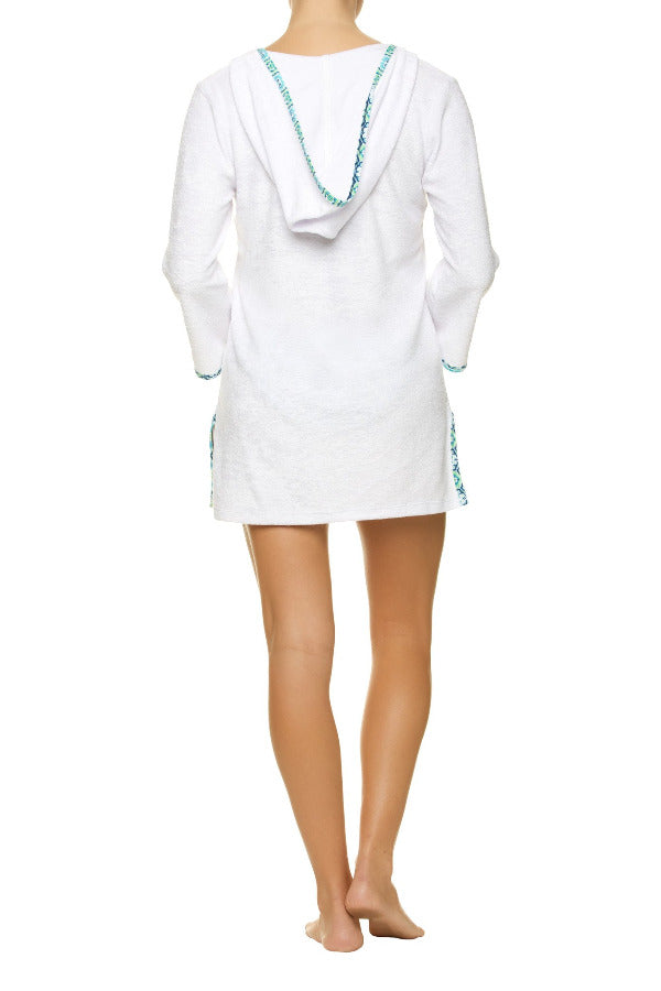 HOODED TERRY COVER-UP-LANI KAI