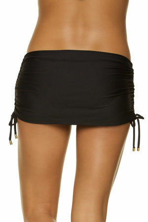 SKIRTED HIPSTER - BLACK