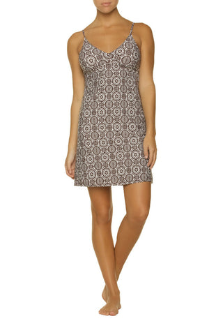 CRYSTAL COVE DRESS-ST. LUCIA CHOCOLATE