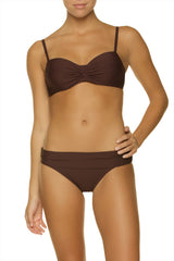 TWIST UNDERWIRE BRA-GOLD COAST CHOCOLATE