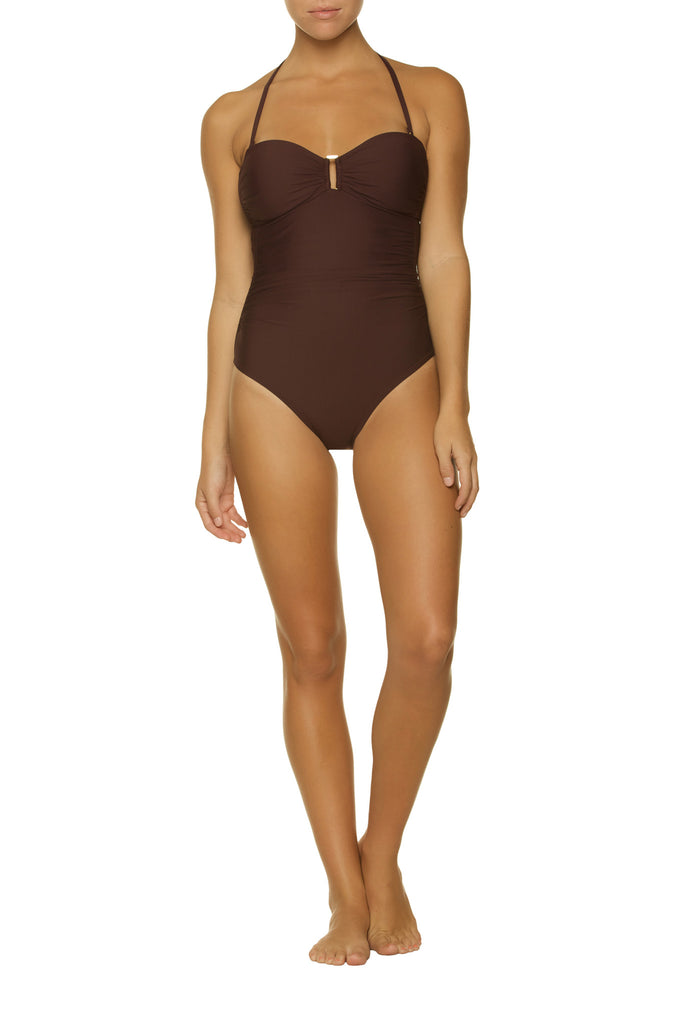 ALEGRA ONE-PIECE-GOLD COAST CHOCOLATE