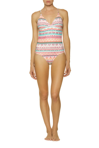 TIE BACK ONE-PIECE-SOUTH PACIFIC