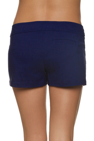 "3"" LACE UP BOARD SHORT - NAVY"