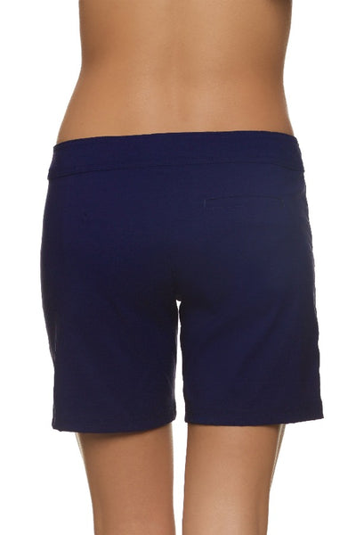 "7"" LACE-UP BOARD SHORT - NAVY"