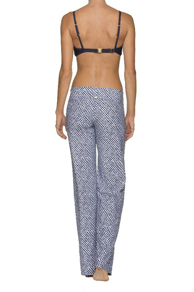 FOLD-OVER BEACH PANT-LATTICE