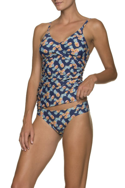 FLOATING UNDERWIRE TANKINI-PINEAPPLE