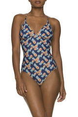 LATTICE BACK ONE-PIECE-PINEAPPLE