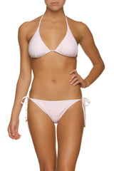 STRING BIKINI TOP-PINK AND WHITE STRIPE