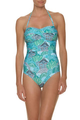 TWIST BANDEAU ONE-PIECE-DOMINICA