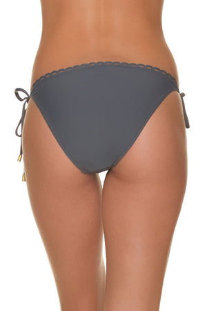 SCALLOPED STRING BIKINI BOTTOM-MINERAL