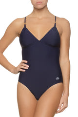 LATTICE BACK ONE-PIECE-NAVY
