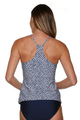 RACERBACK TANKINI-LATTICE