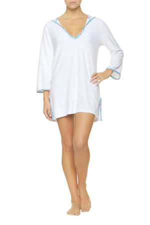 HOODED TERRY COVER-UP-MANDALAY