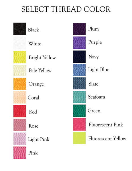 monogram thread colors