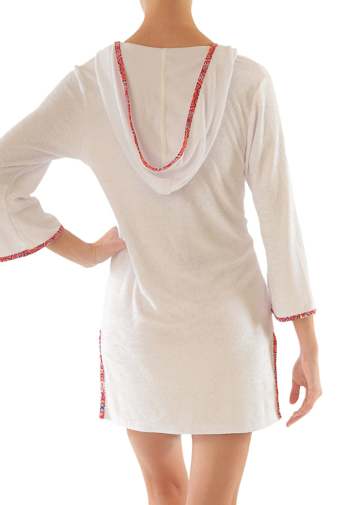 HOODED TERRY COVER-UP-TAMARIND