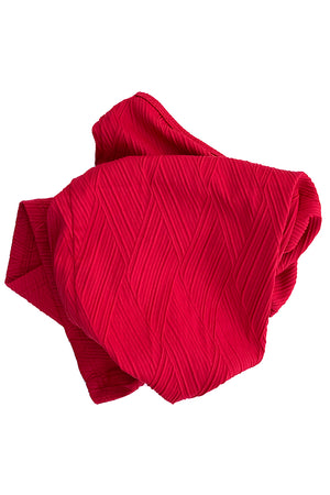 GAITER-TEXTURED TOPSAIL RED