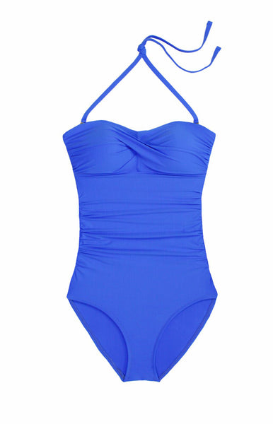 TWIST BANDEAU ONE-PIECE-PACIFIC BLUE