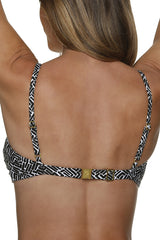 D/DD CUP TWIST UNDERWIRE BRA-SUNSET KEY-BLACK