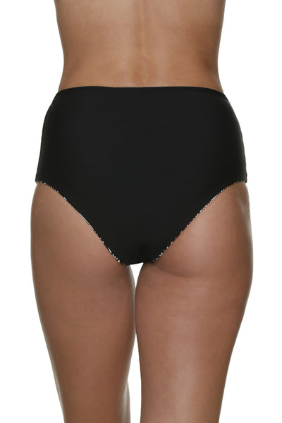 REVERSIBLE HIGH WAISTED BOTTOM-SUNSET KEY-BLACK