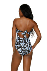 TWIST BANDEAU ONE-PIECE - FLORAL GARDEN