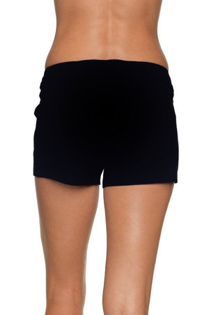 "4"" LACE-UP BOARD SHORT - BLACK"