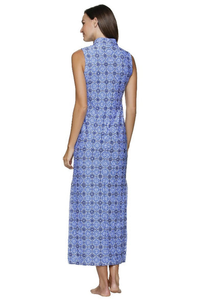 CHELSEA LACE-UP MAXI DRESS-ANTIBES