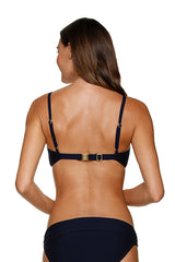 D/DD CUP TWIST UNDERWIRE BRA-BLACK