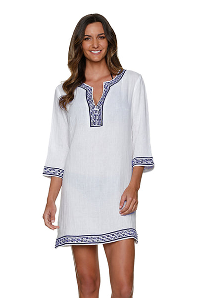 WHITNEY TUNIC-NAVY WHITE