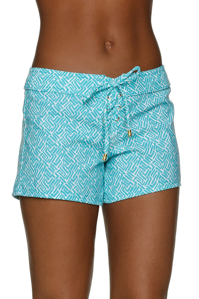 "4"" LACE-UP BOARD SHORT-SUNSET KEY-KIWI"