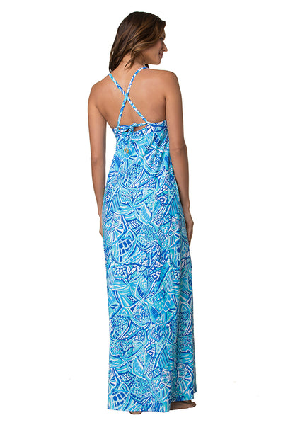 GYPSY DRESS-BLUE GROTTO