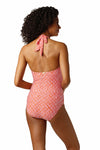 KEY HOLE ONE-PIECE-CALYPSO CORAL