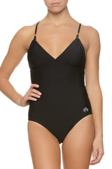 LATTICE BACK ONE-PIECE-BLACK