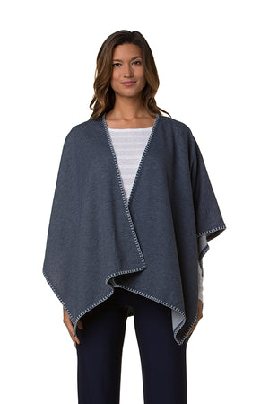 MAXWELL WRAP-HEATHER NAVY