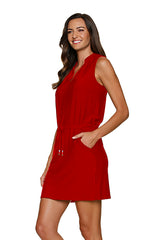 SANIBEL DRESS-TOPSAIL RED