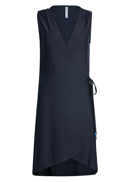 PALOMA WRAP DRESS-BLACK