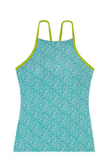 RACERBACK TANKINI-SUNSET KEY-KIWI