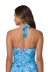 SHELL TANKINI-BLUE GROTTO