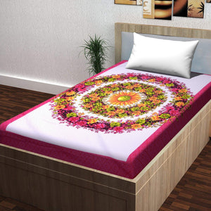 Superb Ghar 104 TC Cotton Single Printed Bedsheet Without Pillow Cover  (Pack of 1)