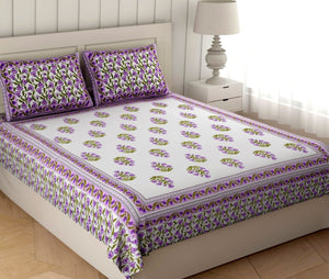 Superbghar 120 TC Cotton King Fancy Bedsheet