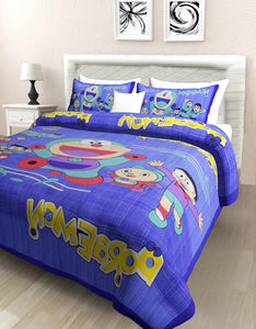 Superbghar 104 TC Cotton Double Printed Bedsheet